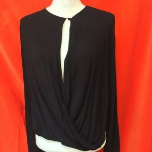 Assembly New York Crossover Knit Top Black M